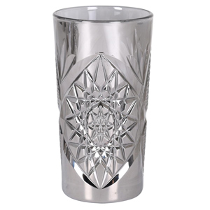 Platinum Hobstar Long Glasses 16oz / 470ml