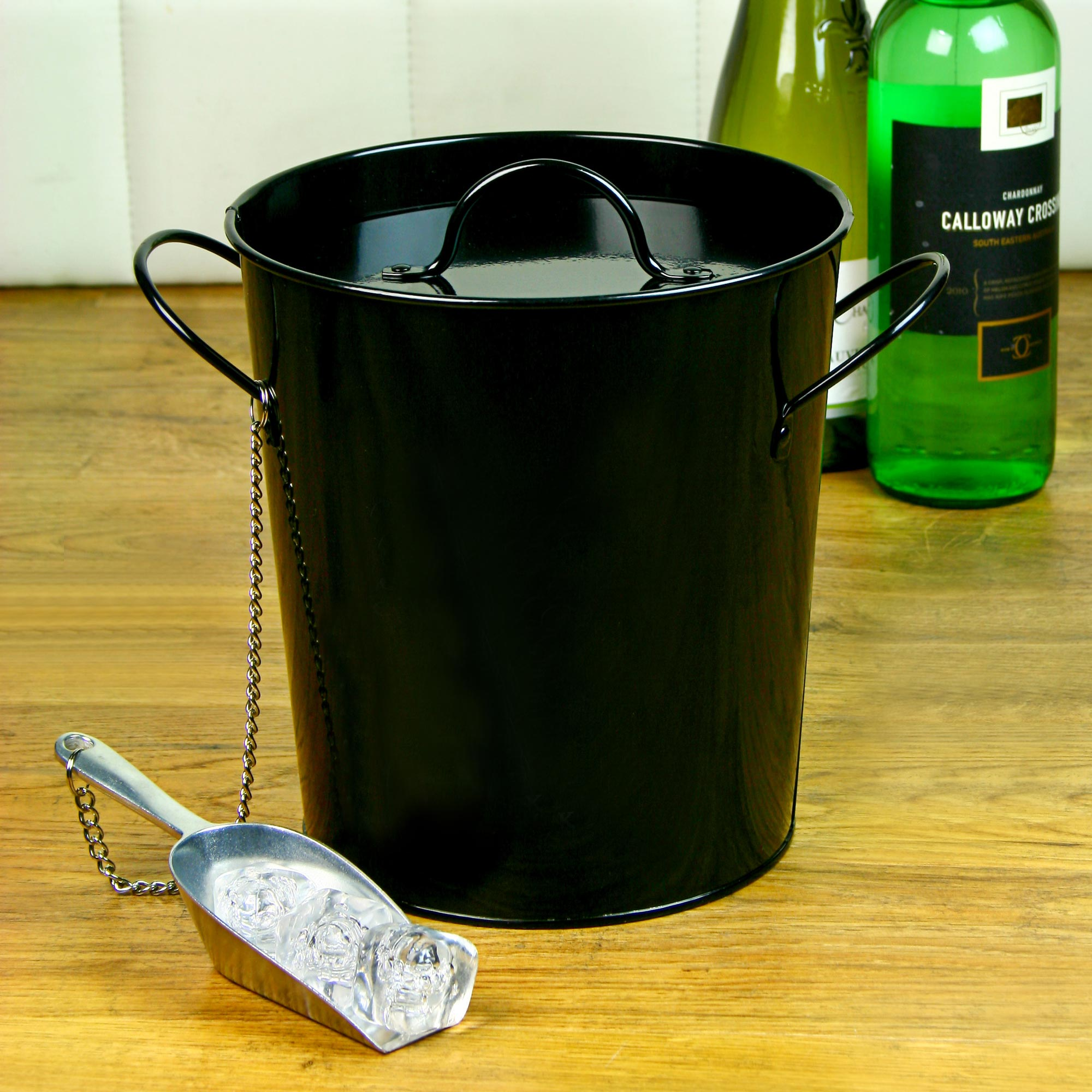 Party Time Ice Bucket And Scoop For Cocktail Parties
