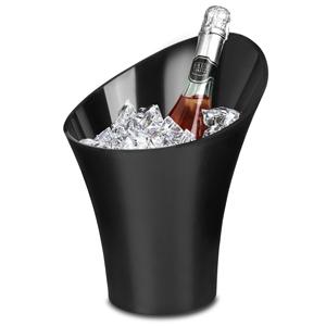 Flute Wine & Champagne Bucket Black 5ltr