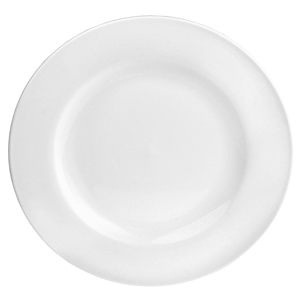 Utopia Pure White Wide Rim Plate 8inch / 20cm