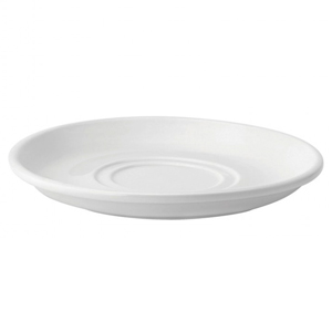 Utopia Pure White Double Well Saucer 7inch / 18cm