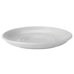 Utopia Pure White Double Well Saucer 6inch / 15cm