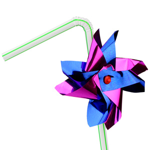 Windmill Bendy Straws