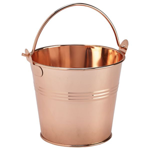 Stainless Steel Serving Bucket Copper Finish 10cm