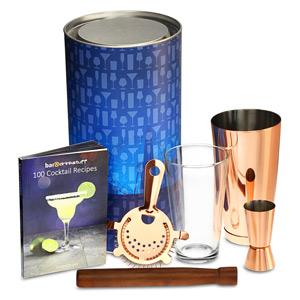 Copper Boston Cocktail Shaker Set