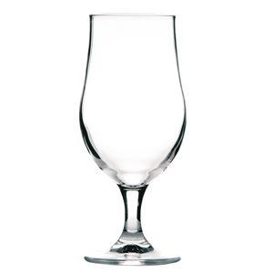Munique Stemmed Beer Tulip Glasses 13oz LCE at 10oz + CAL at 1/3 Pint