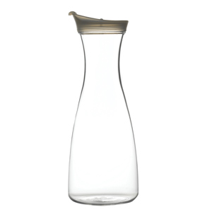 Acrylic Carafe with White Pouring Lid 35oz / 1ltr