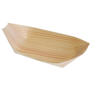 Large Disposable Wood Boats 16.5 x 9cm