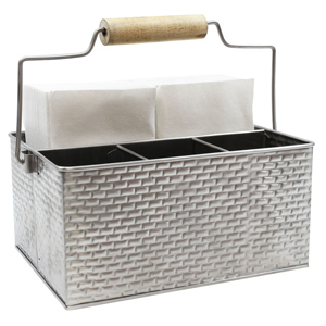 Brickhouse Collection Rectangular Caddy with Handle