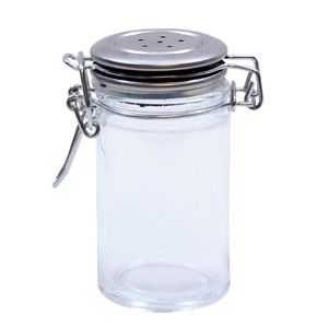 Resealable Salt & Pepper Shaker with Clip Top Lid