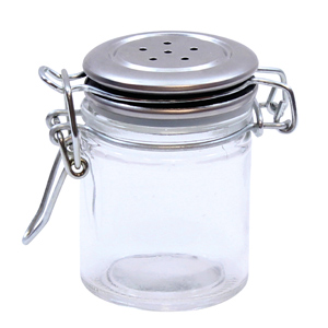 Small Resealable Salt & Pepper Shaker with Clip Top