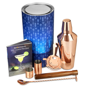 Copper Manhattan Cocktail Shaker Set