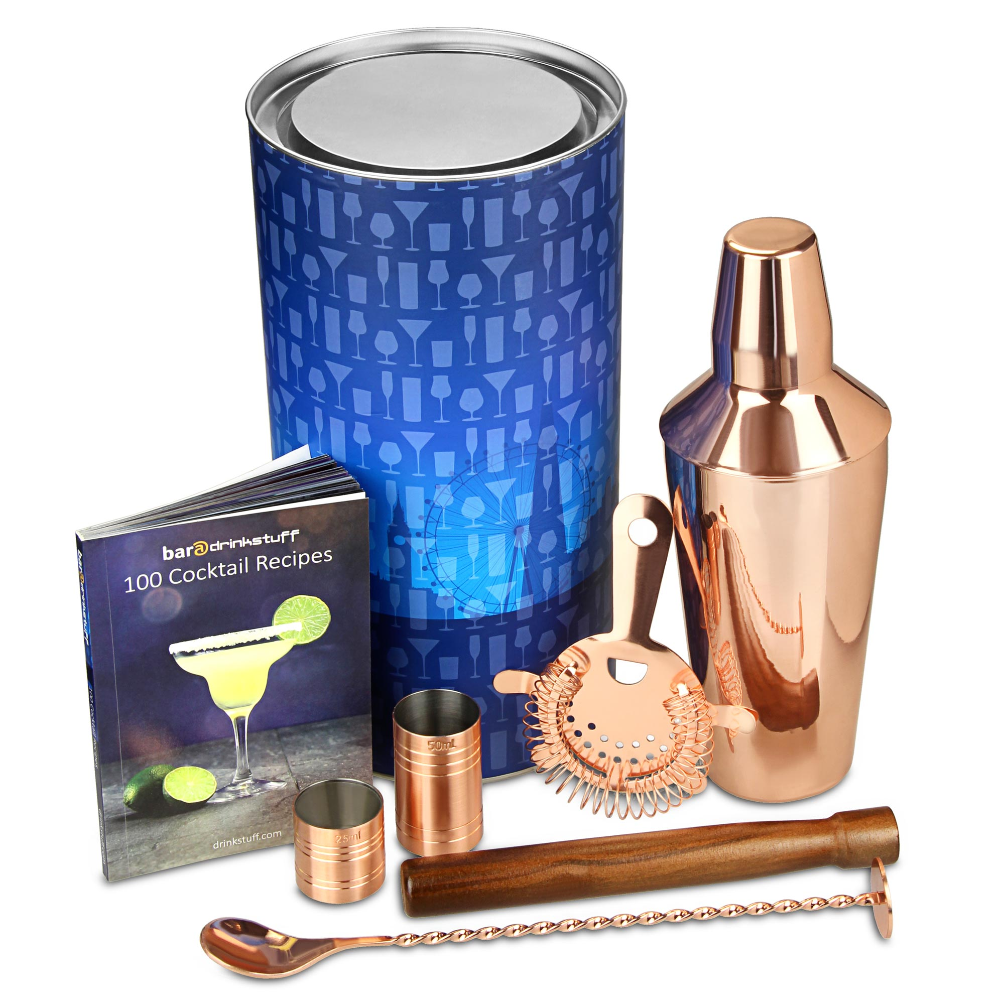 copper manhattan cocktail shaker set at drinkstuff. Black Bedroom Furniture Sets. Home Design Ideas