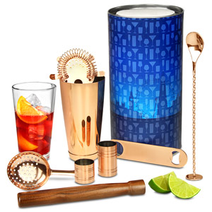 Copper Barware Kit