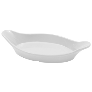 Valencia Collection Oval Eared White Au Gratin Dishes 22cm