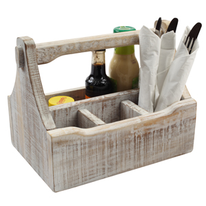 Nordic White Table Caddy