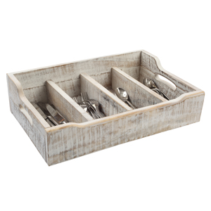 Nordic White Extra Large Cutlery Tray