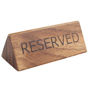 Acacia Reserved Sign