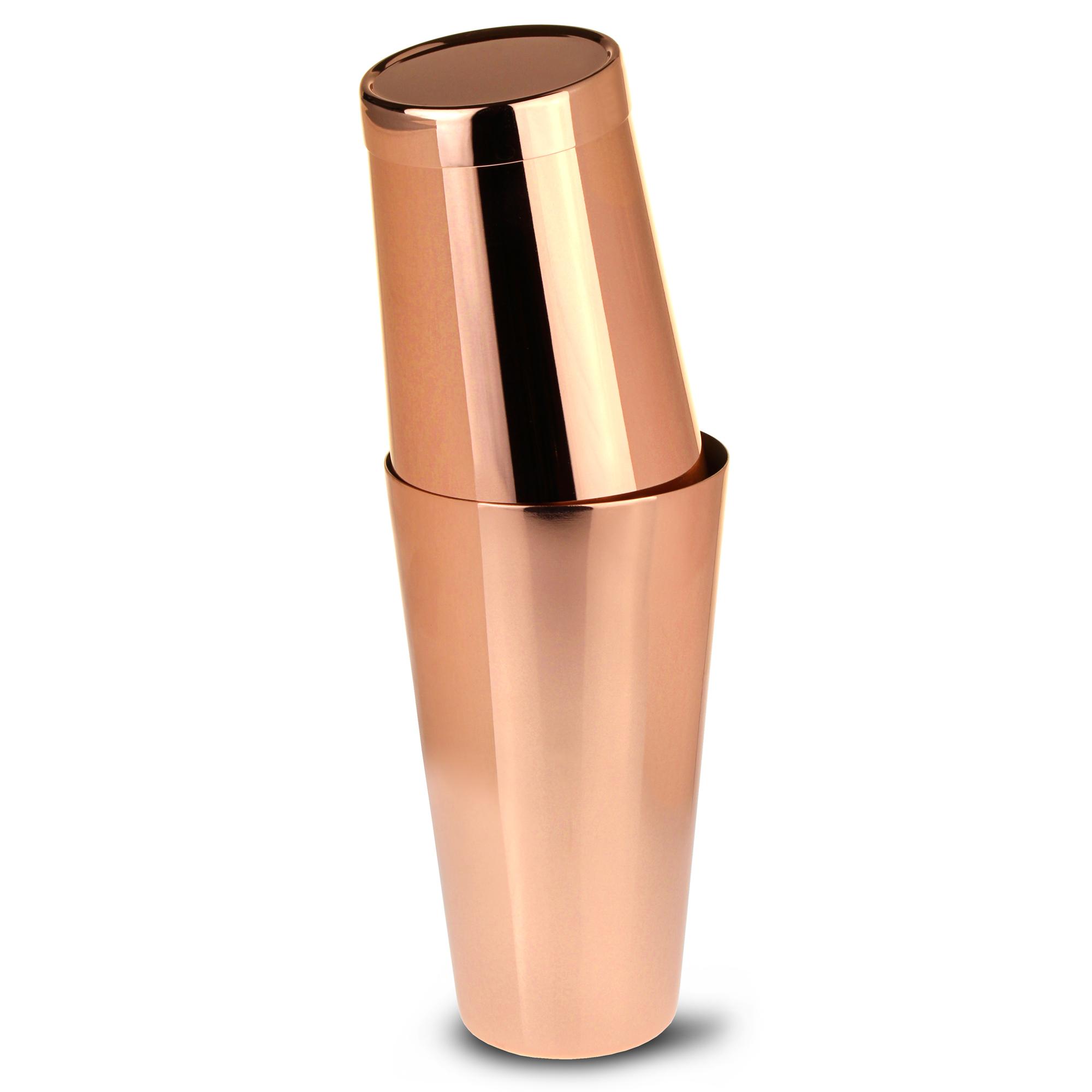 Copper Tin on Tin Boston Cocktail Shaker at drinkstuff
