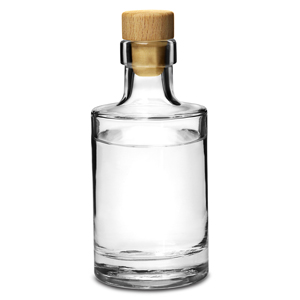 Galileo Flint Glass Bottle with Cork Lid 7oz / 200ml