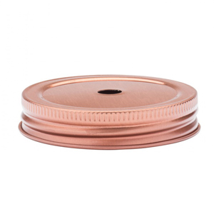 Drinking Jar Lid With Straw Hole Copper