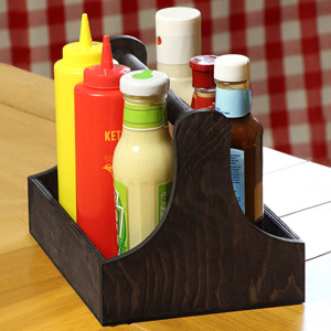 Pine Condiment Caddy 25 x 18 x 18cm