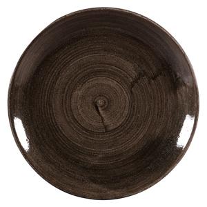 Churchill Stonecast Patina Iron Black Coupe Plates 11.25inch / 28.8cm