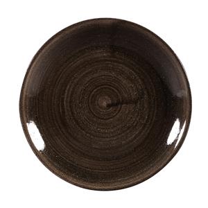 Churchill Stonecast Patina Iron Black Coupe Plates 6.5inch / 16.5cm