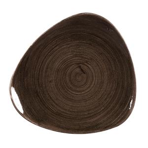 Churchill Stonecast Patina Iron Black Triangle Plates 9inch / 22.9cm