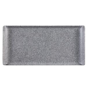 Churchill Granite Melamine Rectangular Buffet Tray 11.8inch / 30cm