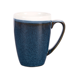 Churchill Monochrome Sapphire Blue Mugs 12oz / 340ml
