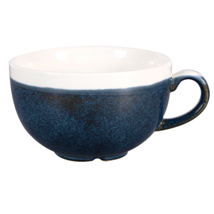 Churchill Monochrome Sapphire Blue Cappuccino Cups 12oz / 340ml