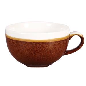 Churchill Monochrome Cinnamon Brown Cappuccino Cups 12oz / 340ml