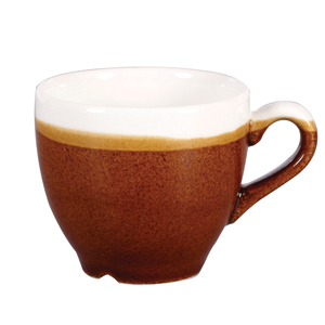Churchill Monochrome Cinnamon Brown Espresso Cups 3.5oz / 100ml