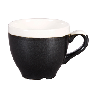 Churchill Monochrome Onyx Black Espresso Cups 3.5oz / 100ml