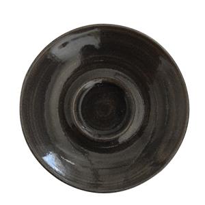 Churchill Monochrome Iron Black Saucers 4.5inch / 11.8cm