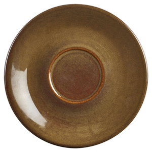 Terra Stoneware Rustic Brown Saucers 6inch / 15cm