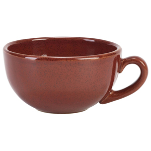 Terra Stoneware Rustic Red Cappuccino Cups 10.5oz / 300ml