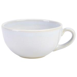 Terra Stoneware Rustic White Cappuccino Cups 10.5oz / 300ml