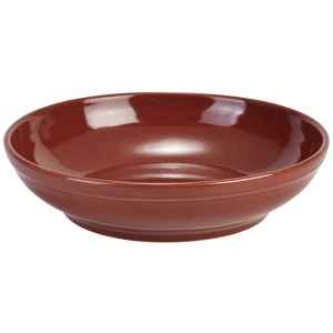 Terra Stoneware Rustic Red Coupe Bowls 9inch / 23cm