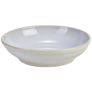 Terra Stoneware Rustic White Coupe Bowls 9inch / 23cm