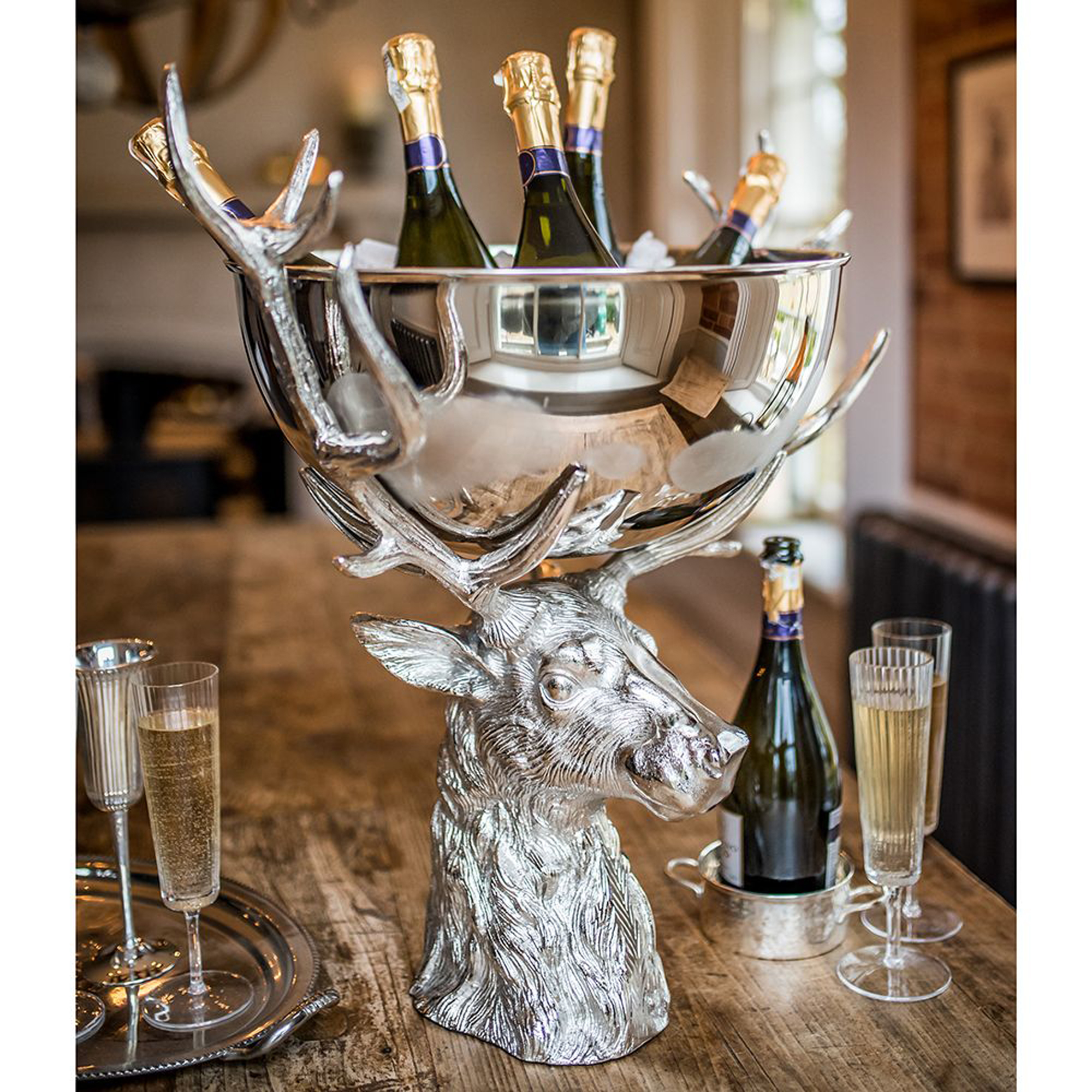 Punch Bowl With Stag Stand Drinkstuff