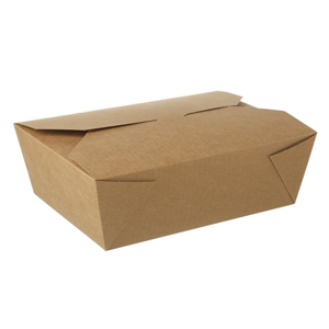 Kraft Compostable Hot Food Boxes 220 x 160mm