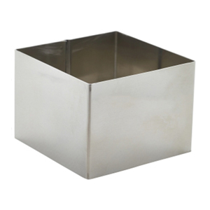 Stainless Steel Square Mousse Ring 8 x 6cm