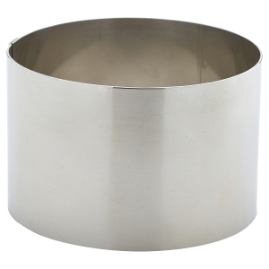 Stainless Steel Mousse Ring 9 x 6cm