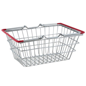 Mini Food Presentation Shopping Basket Red Handles