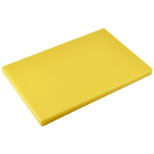 Colour Coded Chopping Board 1inch Yellow - Cooked Meats