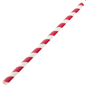 Biodegradable Paper Straws Red and White