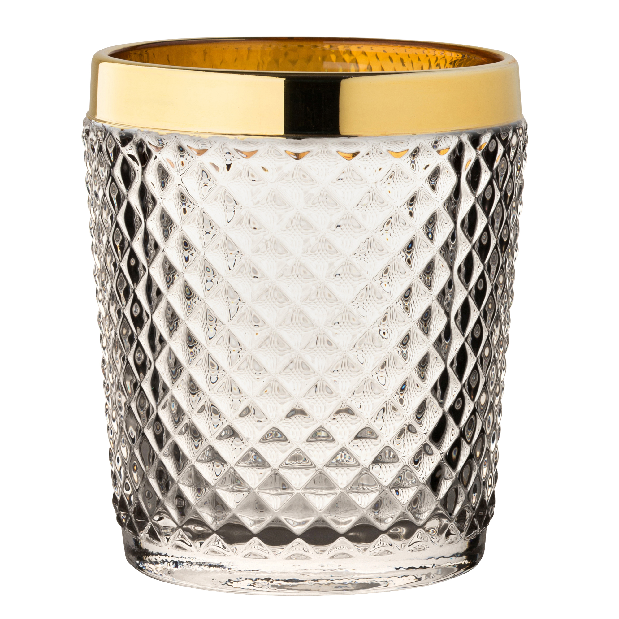 340ml Gold Dante Double Old Fashioned Tumblers 12oz Utopia Glass Set of 6