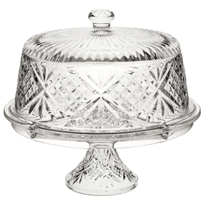 Utopia Vintage Cake Dome and Stand